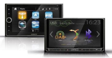 Multimediasysteme von Xzent: 1- und 2-DIN