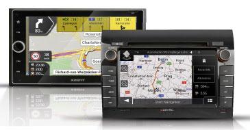 Navigationssysteme Zenec und Xzent